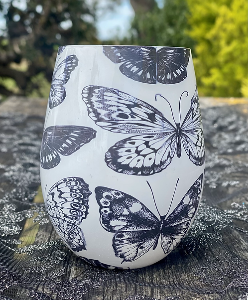 Champagne & Strawberries Butterfly Jar