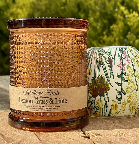 Large Lemongrass & Lime Large Amber Jar