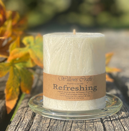 Refreshing Pillar Palm Candle