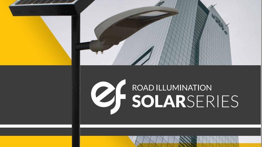 SOLAR STREET LIGHT 56 W 9520 LM WITH POLE AND BATERY 2X55 AH