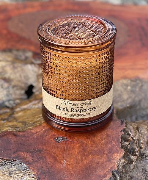Large Black Raspberry Brown Pattern Jar
