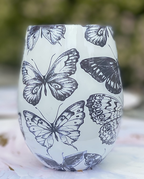 Japanese Honey Suckle Butterflies Jar