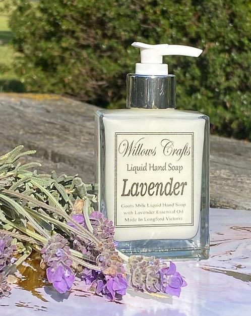 Goats Milk & Lavender Essential Oil Liquid Soap Bottle 100mls