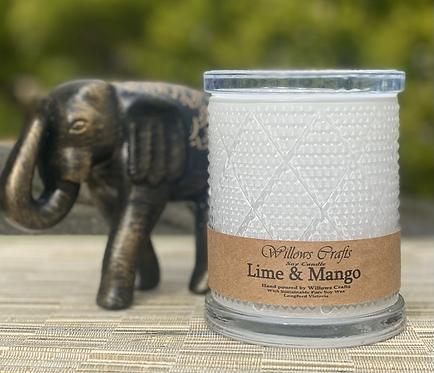 Large Lime & Mango  Pattern Jar