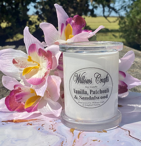 Medium Vanilla, Sandalwood & Patchouli Jar