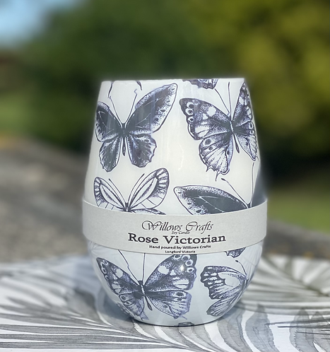 Rose Victorian Butterfly Jar