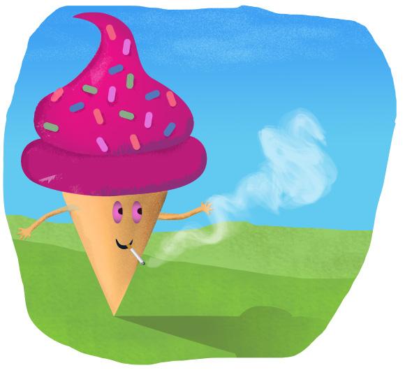 Smoking Ice Cream