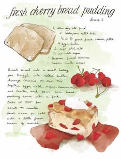 Cherry Bread Pudding