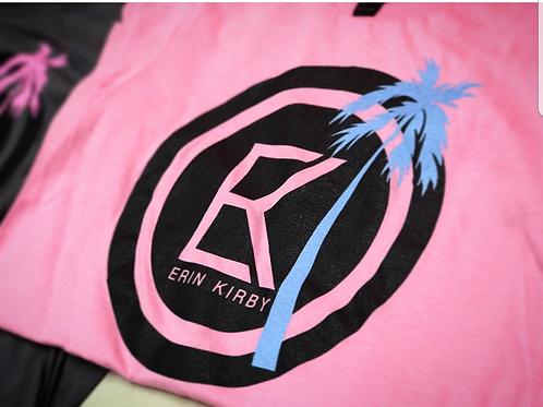 Pink T-Shirt w/Blue Palm (Women)