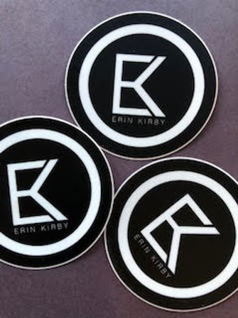 Black Logo Sticker