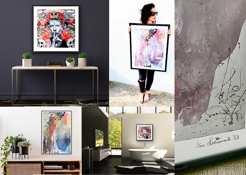 Limited Edition Prints. Luciana Caporaso is a singer, artist and fashion icon.