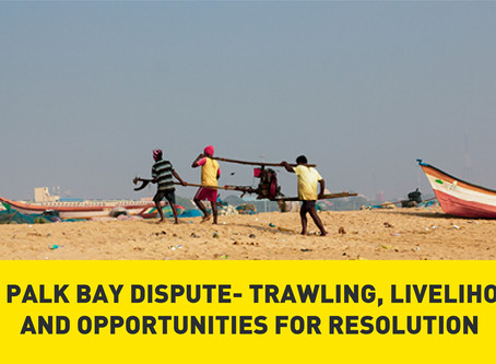 The Palk Bay Dispute - Trawling, Livelihoods and Opportunities for Resolution