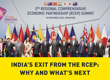 India's Exit from the RCEP: Why and What's Next