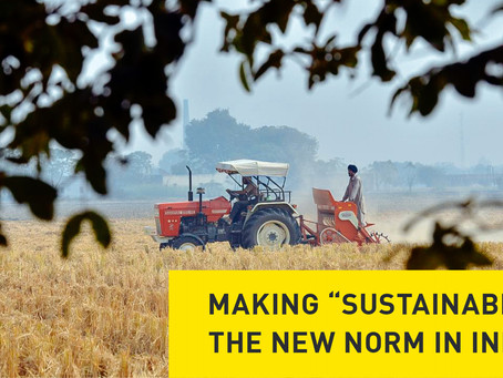 "Making ""Sustainable"" the New Norm in India"