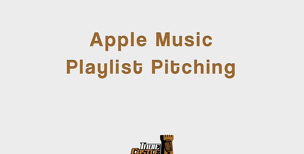 Apple Music Playlist Pitching