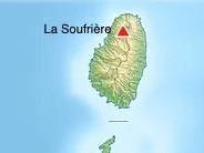 La Soufriere Volcano location