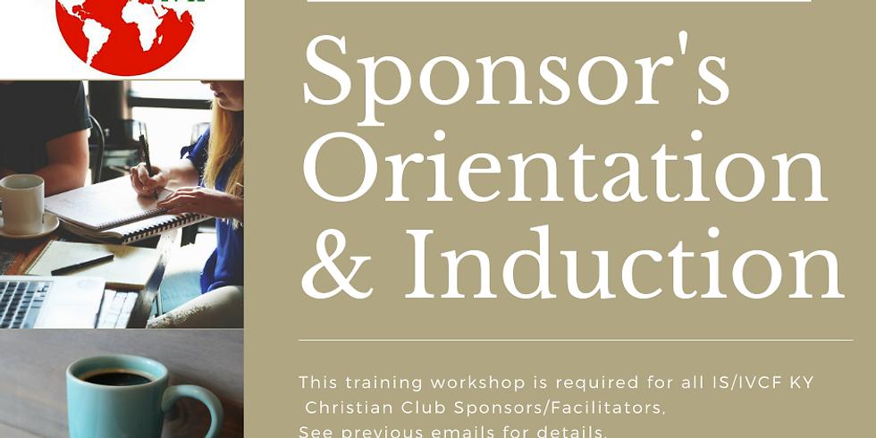 Sponsors' Orientation & Induction