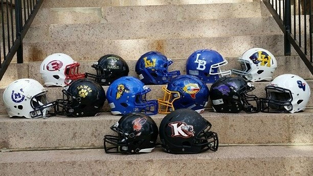 helmets of all HCYFL teams