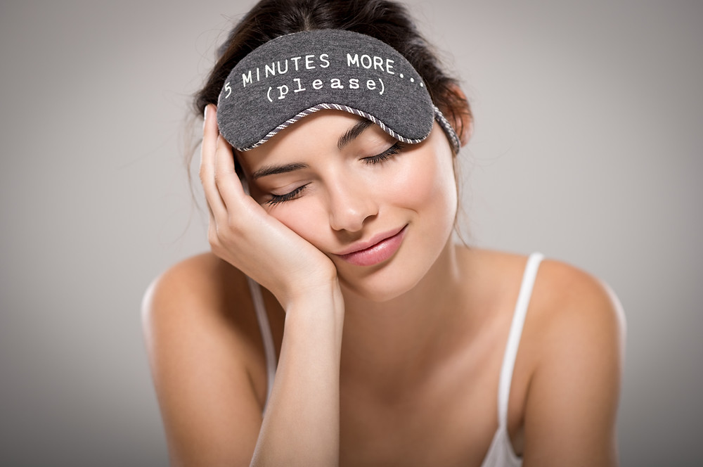 woman preparing for quality sleep