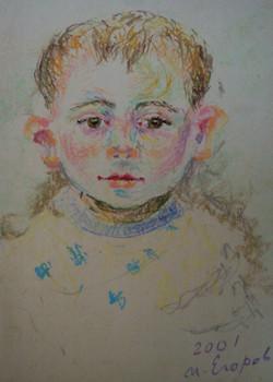 Roman Yehorov in babyhood