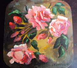 正方形彩繪雅盒 (玫瑰花)