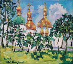 13. 索菲亞大教堂 Sofia Cathedral   53.0x45.5cm 2004 油畫.JPG