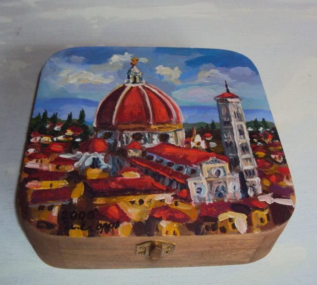 正方形彩繪雅盒 (佛羅倫斯)