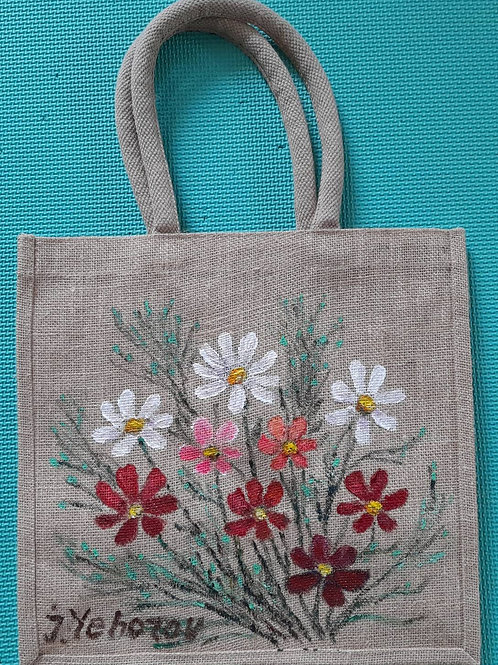 cosmos_original flax painting bag