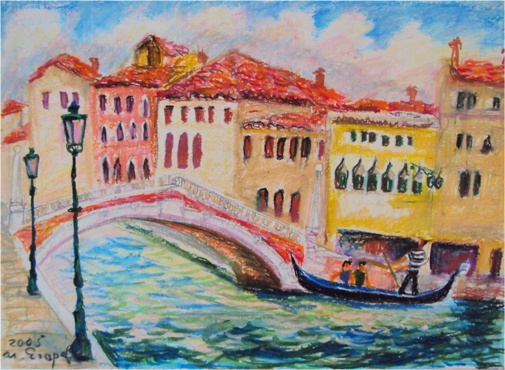 epit-17. 威尼斯擺盪 53x38cm 2005 蠟筆畫