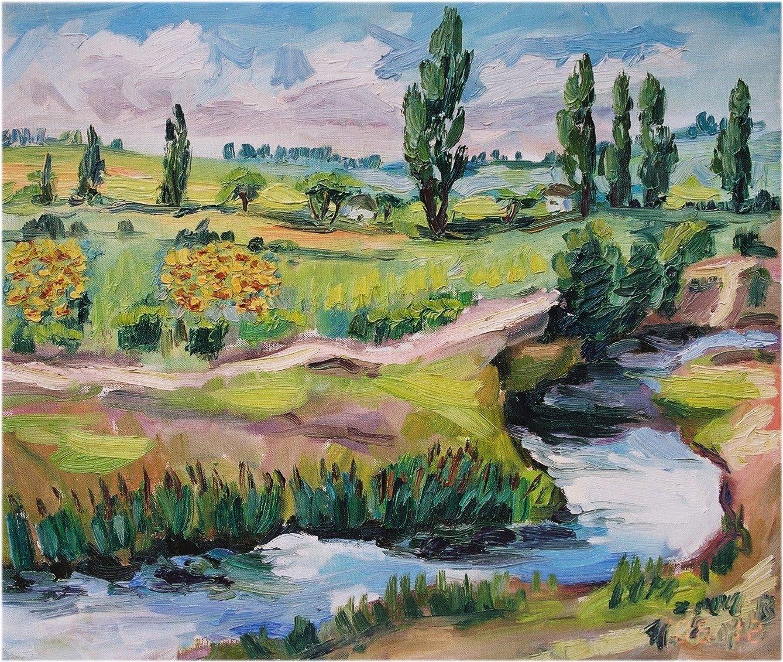 22. 小河淌心Creek of My Mind  53.0x45.5cm 2004 油畫.JPG