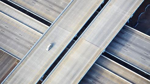 Luftbild von Freeway