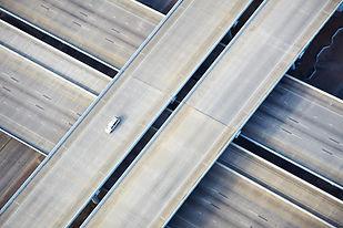 Vista aérea, de, auto-estrada