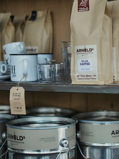 Kaffeebohnen der lokalen Rösterei Arnold´s