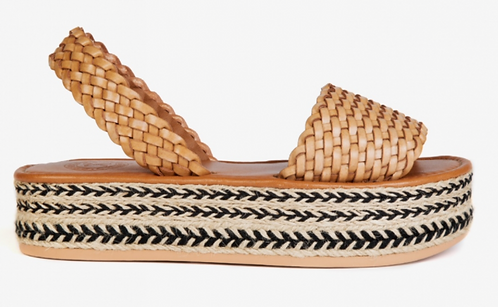 Penelope Chilver - Plaited leather Espadrille - Tan