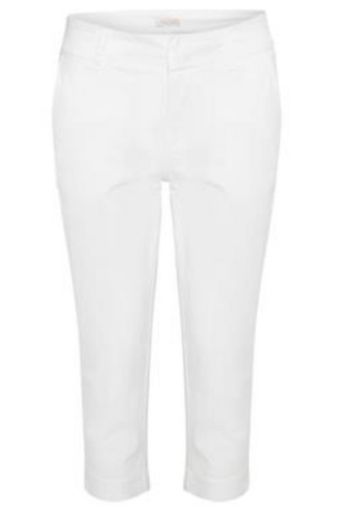 Part Two - SoffiePW Classic Crop Trousers - Bright White