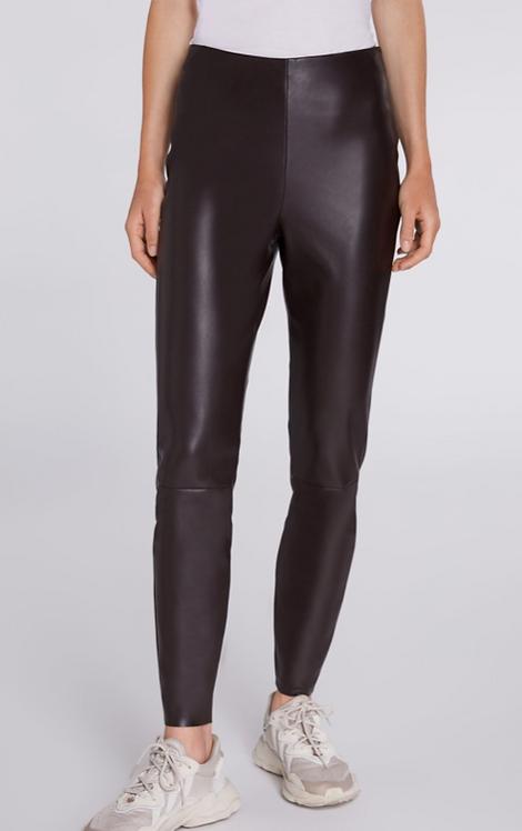 Oui - Jeggings in imitation leather - Dark Drown