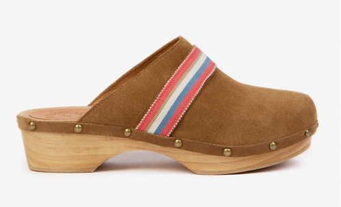 Penelope Chilver - Low Suede Clog - Tan