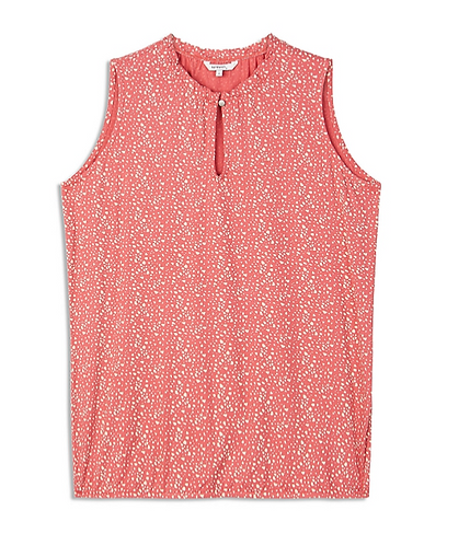 Sandwich -Sleeveless top with print and high neck - Ruby Blush