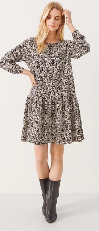 Part Two -Elvia Dress - Cement Leo Print