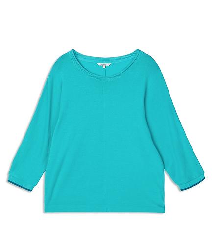 Sandwich -Batwing Sleeve Knit - Blue Turquoise