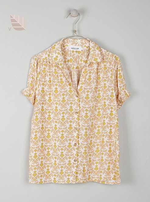indi & cold - Printed Patty Shirt - Olive Green