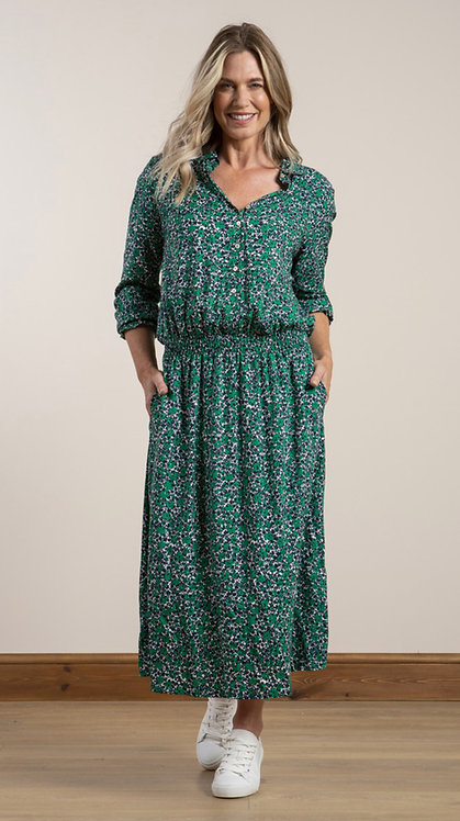 Lily and Me - Haywood Dress Ditsy - Green