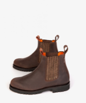 Penelope Chilvers - Oscar Leather Boot - Bitter Chocolate/Rose Gold