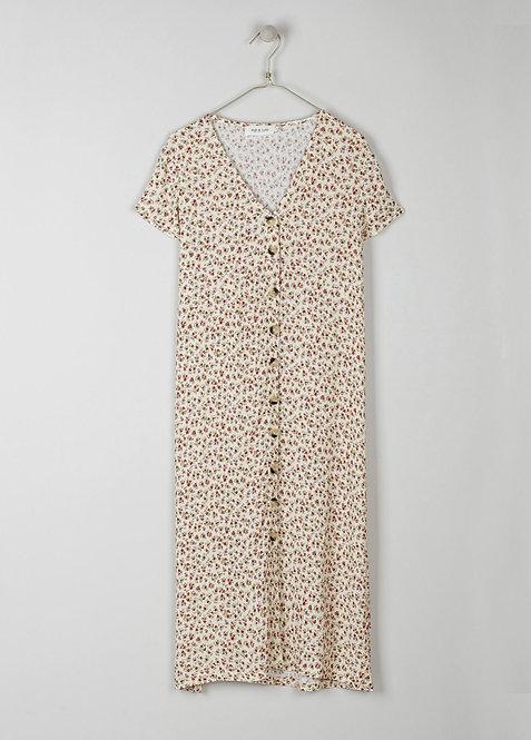 indi & cold -Beth Floral Print Dress - Amarillo