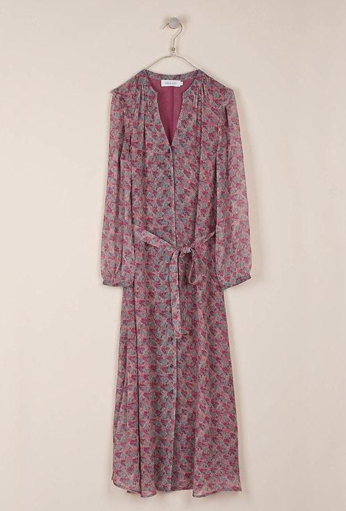 indi & cold - Georgette Long Dress - Malva