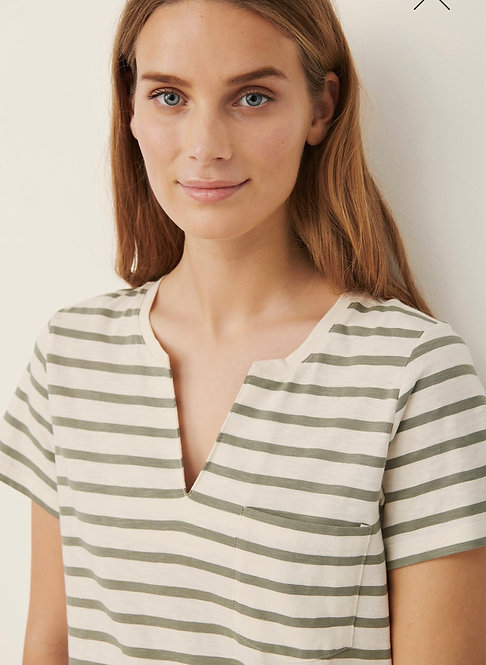 Part Two -Gesina T shirt -Vetiver
