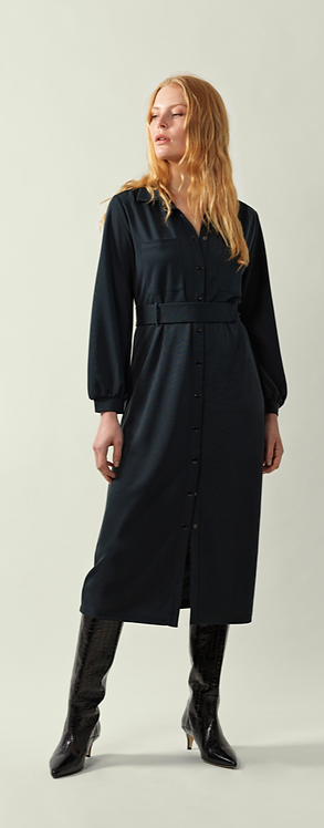 Great Plains - Sena Jersey Shirt Dress - Washed Black