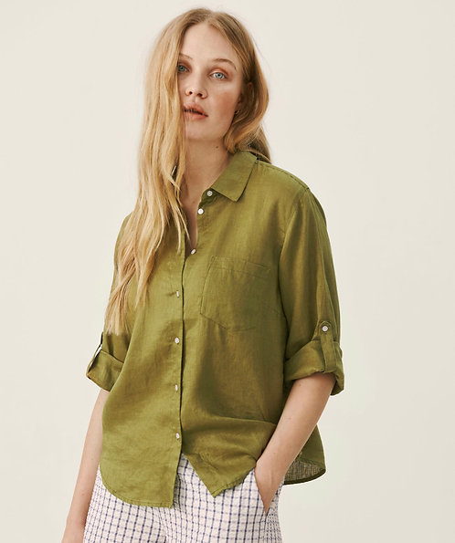 Part Two -CindiesPW Shirt - Olive drab