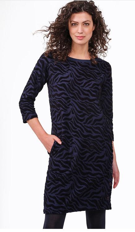 Sandwich - Jacquard Print Dress - Navy/Black