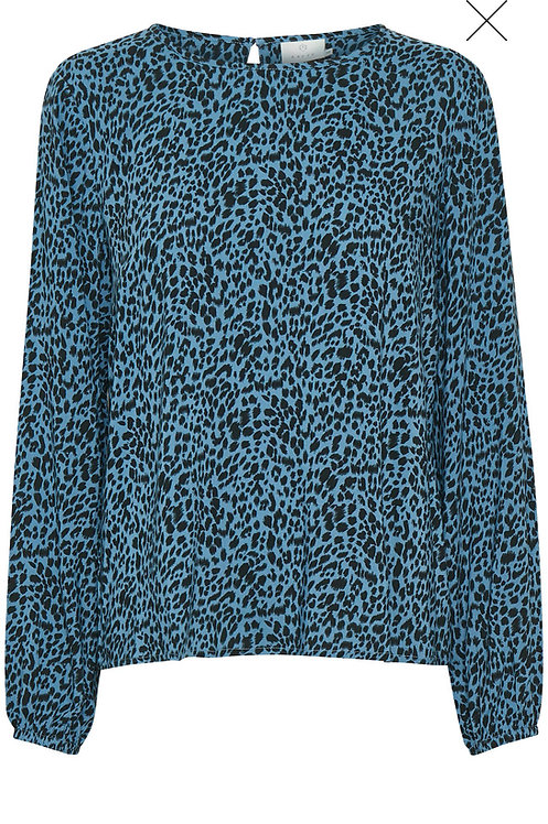 Kaffe - KAbarbara Blouse - Quiet Harbour Blue